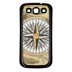 Map Vintage Nautical Collage Samsung Galaxy S3 Back Case (black)