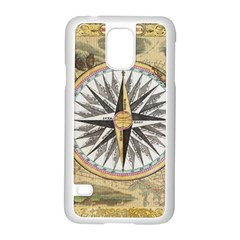 Map Vintage Nautical Collage Samsung Galaxy S5 Case (white)