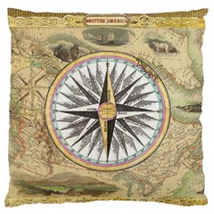 Map Vintage Nautical Collage Standard Flano Cushion Case (one Side)