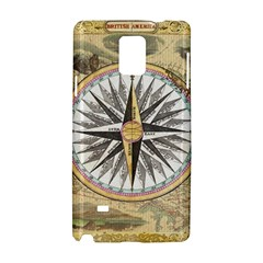 Map Vintage Nautical Collage Samsung Galaxy Note 4 Hardshell Case