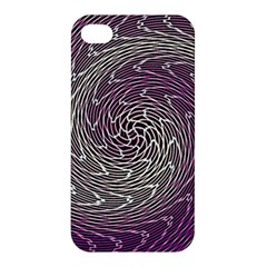 Graphic Abstract Lines Wave Art Apple Iphone 4/4s Hardshell Case