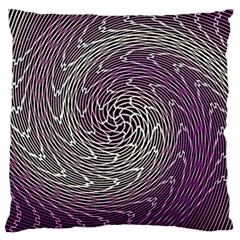 Graphic Abstract Lines Wave Art Large Cushion Case (one Side)