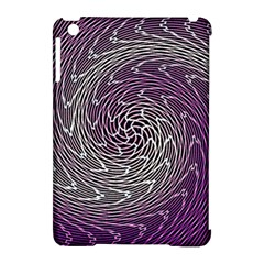 Graphic Abstract Lines Wave Art Apple Ipad Mini Hardshell Case (compatible With Smart Cover)