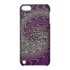 Graphic Abstract Lines Wave Art Apple Ipod Touch 5 Hardshell Case With Stand