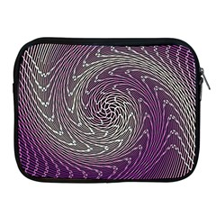 Graphic Abstract Lines Wave Art Apple Ipad 2/3/4 Zipper Cases