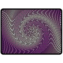 Graphic Abstract Lines Wave Art Double Sided Fleece Blanket (large)