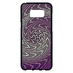 Graphic Abstract Lines Wave Art Samsung Galaxy S8 Plus Black Seamless Case