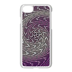 Graphic Abstract Lines Wave Art Apple Iphone 8 Seamless Case (white)