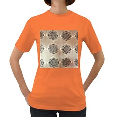 Flower Pattern Pattern Art Women s Dark T Shirt
