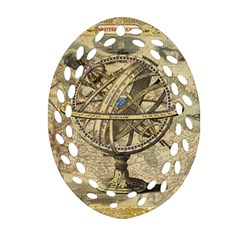 Map Compass Nautical Vintage Ornament (oval Filigree)