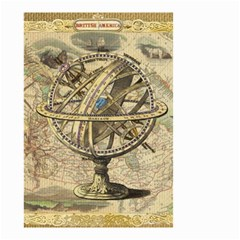 Map Compass Nautical Vintage Small Garden Flag (two Sides)