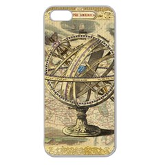 Map Compass Nautical Vintage Apple Seamless Iphone 5 Case (clear)