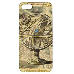 Map Compass Nautical Vintage Apple Iphone 5 Hardshell Case With Stand