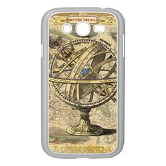 Map Compass Nautical Vintage Samsung Galaxy Grand Duos I9082 Case (white)
