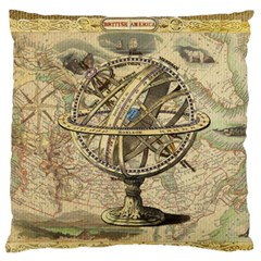 Map Compass Nautical Vintage Standard Flano Cushion Case (two Sides)