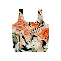 Marble Texture White Pattern Full Print Recycle Bags (s)