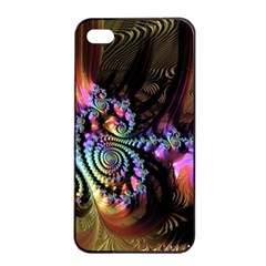 Fractal Colorful Background Apple Iphone 4/4s Seamless Case (black)