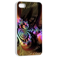 Fractal Colorful Background Apple Iphone 4/4s Seamless Case (white)