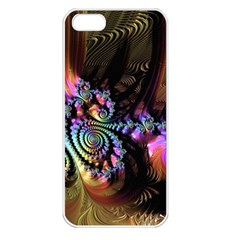 Fractal Colorful Background Apple Iphone 5 Seamless Case (white)