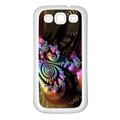 Fractal Colorful Background Samsung Galaxy S3 Back Case (white)