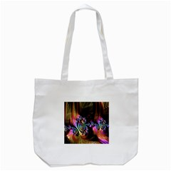 Fractal Colorful Background Tote Bag (white)