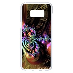 Fractal Colorful Background Samsung Galaxy S8 Plus White Seamless Case