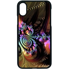 Fractal Colorful Background Apple Iphone X Seamless Case (black)