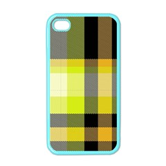 Tartan Abstract Background Pattern Textile 5 Apple Iphone 4 Case (color)