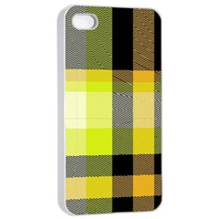 Tartan Abstract Background Pattern Textile 5 Apple Iphone 4/4s Seamless Case (white)