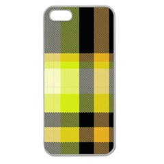 Tartan Abstract Background Pattern Textile 5 Apple Seamless Iphone 5 Case (clear)