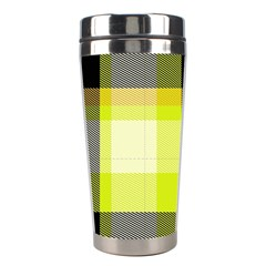 Tartan Abstract Background Pattern Textile 5 Stainless Steel Travel Tumblers