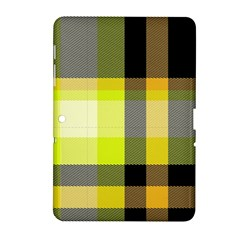 Tartan Abstract Background Pattern Textile 5 Samsung Galaxy Tab 2 (10 1 ) P5100 Hardshell Case
