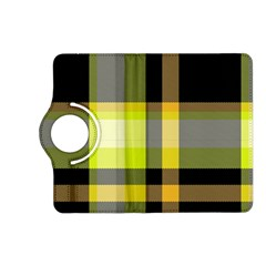Tartan Abstract Background Pattern Textile 5 Kindle Fire Hd (2013) Flip 360 Case