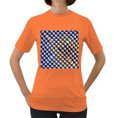 Kaleidoscope Pattern Ornament Women s Dark T Shirt