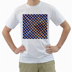 Kaleidoscope Pattern Ornament Men s T Shirt (white)