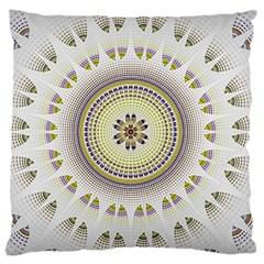 Mandala Fractal Decorative Large Cushion Case (two Sides)