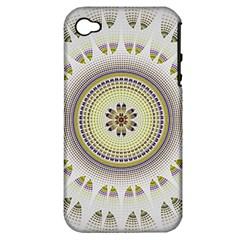 Mandala Fractal Decorative Apple Iphone 4/4s Hardshell Case (pc+silicone)