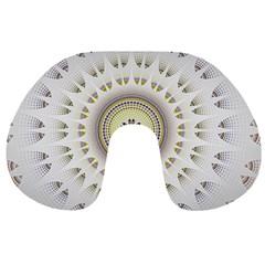 Mandala Fractal Decorative Travel Neck Pillows