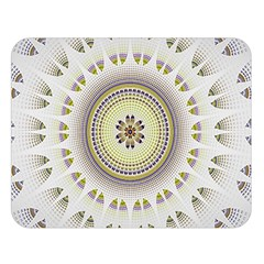 Mandala Fractal Decorative Double Sided Flano Blanket (large)