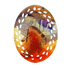 Dirty Dirt Image Spiral Wave Ornament (oval Filigree)