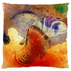 Dirty Dirt Image Spiral Wave Large Cushion Case (two Sides)