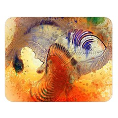 Dirty Dirt Image Spiral Wave Double Sided Flano Blanket (large)