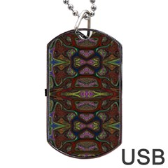 Pattern Abstract Art Decoration Dog Tag Usb Flash (two Sides)