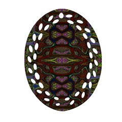 Pattern Abstract Art Decoration Oval Filigree Ornament (two Sides)