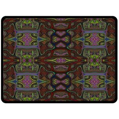 Pattern Abstract Art Decoration Double Sided Fleece Blanket (large)