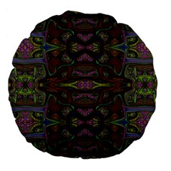 Pattern Abstract Art Decoration Large 18  Premium Flano Round Cushions
