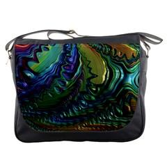 Fractal Art Background Image Messenger Bags