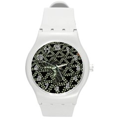 Batik Traditional Heritage Indonesia Round Plastic Sport Watch (m)