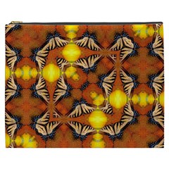Dancing Butterfly Kaleidoscope Cosmetic Bag (xxxl)