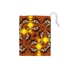 Dancing Butterfly Kaleidoscope Drawstring Pouches (small)
